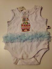 Tiny Tillia by Avon baby girls white with egg design dress style bodysuit