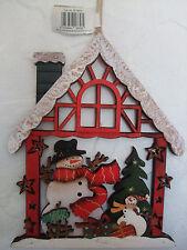 Casa De Navidad Decoración de pared escena Muñeco de nieve