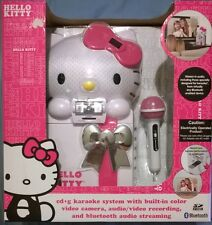 Hello Kitty Karaoke System KT2009 Color Video Camera Recording Bluetooth NEW
