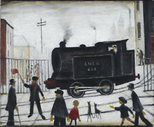 L.S. Lowry Level Crossing Giclee Canvas Print  Poster Reproduction