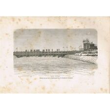 Serapeum Tranchée Entrée des Eaux de la Méditerranée GRAVURE datant XIXè Siècle