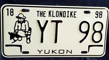 CANADA CAR,SOUVENIR License Plate,Yukon Gold Panner YT 98