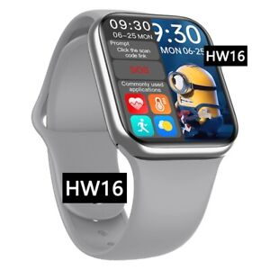 Smart watch 2021 HW16  Sliver Apple Iphone Android IOS  44 mm fullHD  Bluetooth