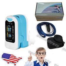 USA Shipping! LED Pulse Oximeter Fingertip Pulse Oxygen SpO2 Monitor+case rope