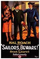 SAILORS, BEWARE! Movie POSTER 27x40 Stan Laurel Oliver Hardy Anita Garvin Ed