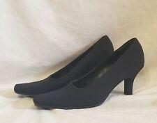 Prada Black fabric square toe Shoes Pumps Size Euro 36