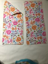 Baby Burpcloths Jungle Animal Print Set Of 2 Flannel Double Layer Handmade