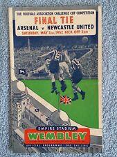 1952 - FA CUP FINAL PROGRAMME - ARSENAL v NEWCASTLE UTD