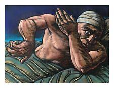 FRANK McFADDEN SCOTTISH ARTIST ORIGINAL PASTEL PAINTING PETER HOWSON INTEREST