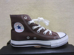 New Converse Chuck Taylor CT A/S YTH HI Junior Size 13 US Hi Top Shoes Chocolate