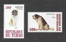 Photo Body Study Postage Stamp Collection Saint St Bernard Dog 2 x Mnh