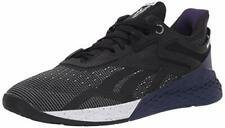 Reebok Men's Nano X Cross Trainer Black/White/Mystic orchid 10.5 M US
