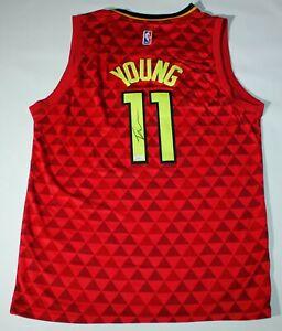 Trae Young Atlanta Hawks Autographed #11 NBA Basketball Jersey JSA COA