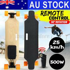500W 25km/h Dual Motor Electric Skateboard Long Board Wireless Skate w/Remote