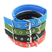 S-XXL Adjustable Neck Strap Pets-Dog Nylon Sponge Buckle Collar Puppy Necklace