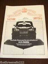 ROLLS ROYCE ENTHUSIASTS CLUB ADVERTISER #13 - MARCH 1977