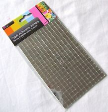NEW 260 SELF ADHESIVE GLASS MIRROR SQUARES TILES MOSAIC CRAFT 7MM SIL SILVER
