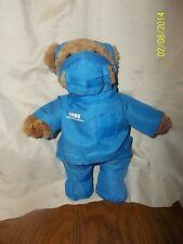 "8"" Pharmaceutical plush Bear ERBE-USA Blue doctor Scrubs ERBE Medical Promo"