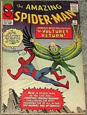 AMAZING SPIDERMAN 7 HI GRADE 5.0 F- RARE VULTURE KEY 1963 12 CENT STAN LEE DITKO
