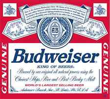 "Budweiser Vinyl Sticker Decal 18"" (full color)"