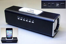 "Stereo-sound station ""phone-star"", Noir, iPhone/iPod compatible, usb, Micro-sd"