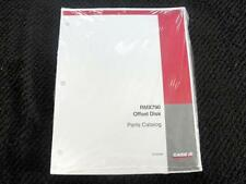 ORIGINAL CASE RMX790 OFFSET DISK PARTS MANUAL CATALOG SEALED MINT!