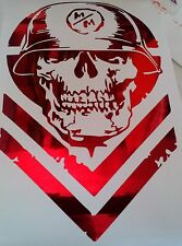 Chrome Colored Metal Mulisha decal 11.5x7 inch Chev 4x4 350z honda toyota jeep