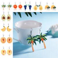 Avocado Pear Grape Acrylic  Peach Coconut Mango Fruit Earring Hook Earrings