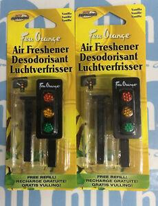 traffic light car air freshener vanilla + Free Refill Pack Of 2