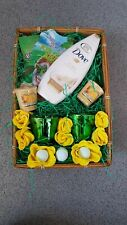 Christmas Green holly glass yankee candle dove silk glow hamper pamper basket