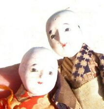 ANTIQUE JAPANESE / ASIAN DOLLS GLASS EYES IN ORIGINAL BOX / ANTIQUE DOLL