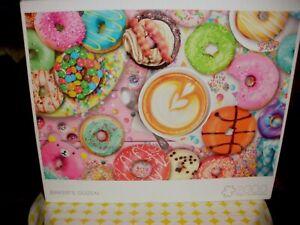 Buffalo Baker's Dozen 2000 Piece Jigsaw Puzzle Donuts Latte Sweets Donut Coffee