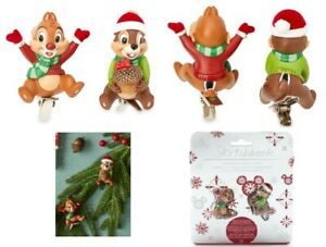 Disney Store Chip n Dale Festive Clip-On Ornaments tree decoration squirrels