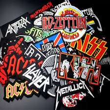 Metal Rock Punk Music Band Sew/Iron On patch Bags DIY Embroidered Gift badge UK