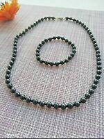 Russia 6 mm Shungite strand necklace beads +bracelet from KARELIA