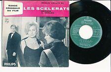"BOF LES SCELERATS 45T EP 7"" FREDERIC DARD ROBERT HOSSEIN BLUES MICHELE MORGAN"