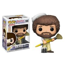 FUNKO POP! TELEVISION: BOB ROSS with PAINT BRUSH Pop! Vinyl Figure #559