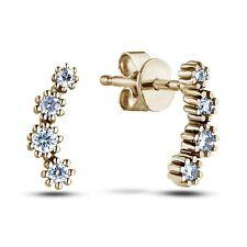 10K Yellow Gold Natural Canadian Diamond Earrings - w/ Canadian Cert
