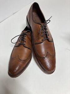 Allen Edmonds 9.5 Stuttgart Mens Wingtip Brown Shoes