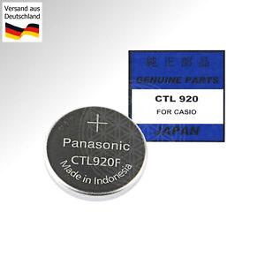 Panasonic CTL920F Capacitor Battery für CASIO G-Shock Solar Uhren Akku 27530