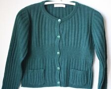 DOLCE AND GABBANA Baby Verde a Coste Cardigan Di Cashmere 18-24 mesi