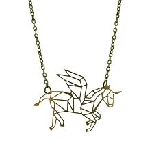 Geometric Unicorn charm necklace