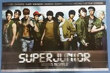 Super Junior - Mr. Simple OFFICIAL POSTER  HARD TUBE CASE UNFOLD