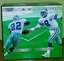 """Starting Lineup 1997 Emmitt Smith & Troy Aikman 12"""" Inch Figures Dallas Cowboys"""
