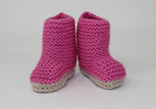 KNITTING INSTRUCTIONS-BABY CHUNKY BIG BOOTIES  SHOES BOOTS KNITTING PATTERN