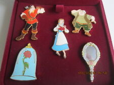 Disney's Beauty and the Beast Limited Edition 5 Pin set New