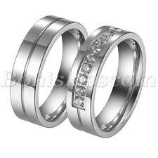 2 Stück Edelstahl Partner Ring Eheringe Trauringe Verlobung Bandring Ringe