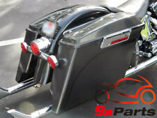 "5"" Stretched Extended Hard Saddle Bags For Harley 1993-2013 Touring Motorcycle"