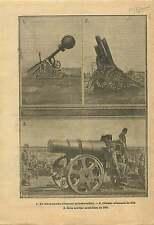 WWI Canon lance Bombes Gun Minenwerfer Deutsches Heer Howitzer 1915 ILLUSTRATION