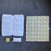 AMERICAN GIRL Kit Retired QUILT, PILLOW And FEATHER BED Set Great Condition!